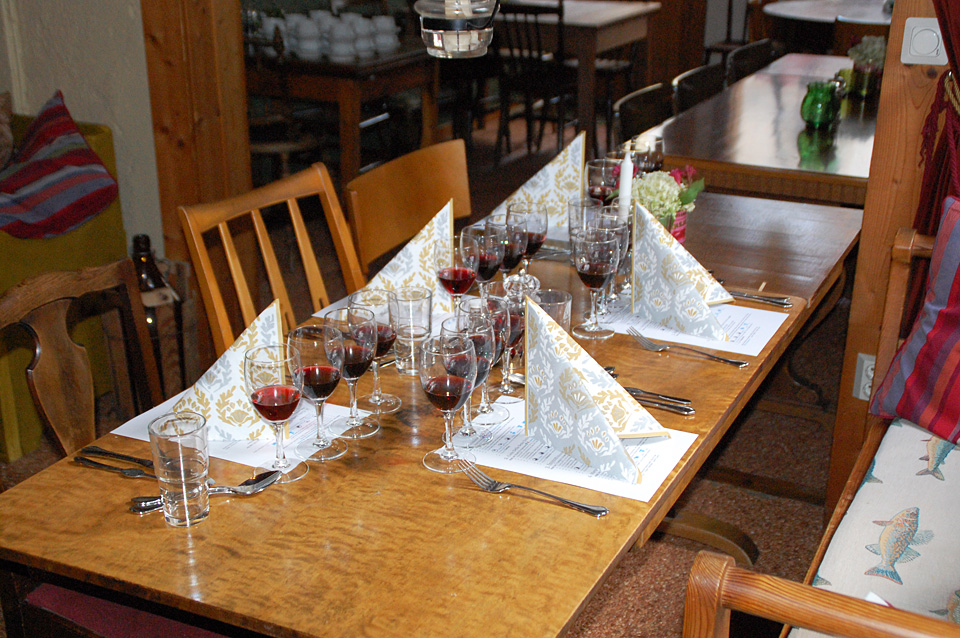 Vinprovning Uppdukat