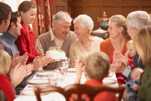 Jubilar firas - fylla jämnt middag